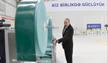Azerbaycan'da, tıbbi maske üretim fabrikası faaliyete başladı