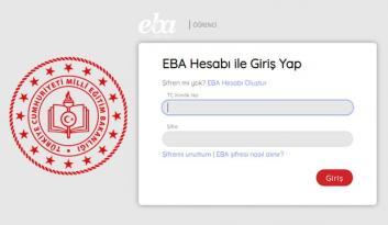 EBA öğrenci giriş ekranı! EBA TV şifre alma