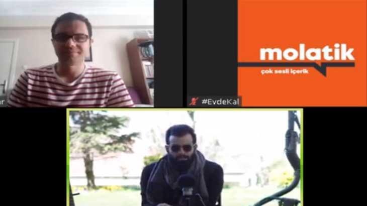 Molatik'in #Evdekal konuğu Gökhan Türkmen oldu!