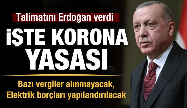 Talimatını Erdoğan verdi! İşte korona yasası…