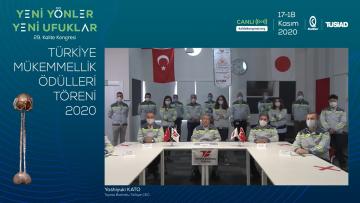 Toyota Boshoku Türkiye ve Türkiye Yeşilay Cemiyeti 2020 Türkiye Mükemmellik Ödülleri'ni Almaya Hak Kazandı!
