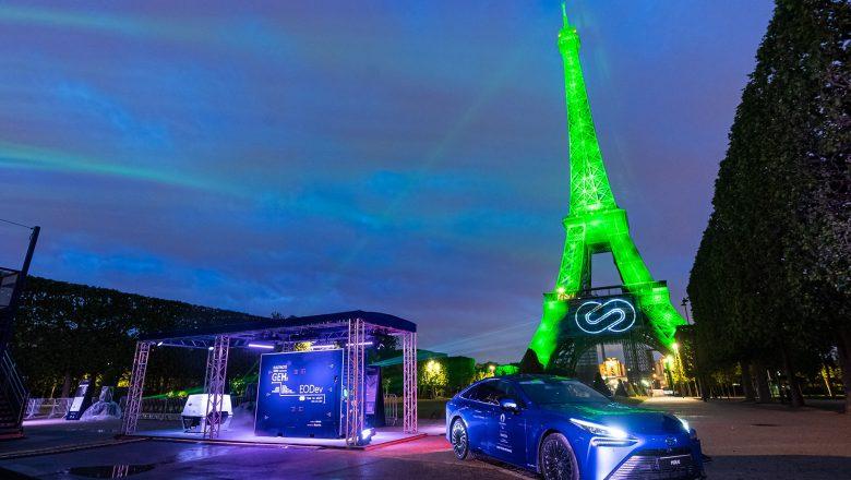 Toyota Sürdürülebilir Hidrojen Enerjisiyle Eyfel'i Aydınlattı